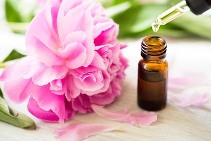 Aromatherapy, essentials oils, peony flowers